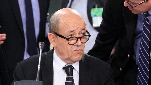 Le ministre français de la Défense, Jean-Yves Le Drian. [Olivier Hoslet / Keystone]