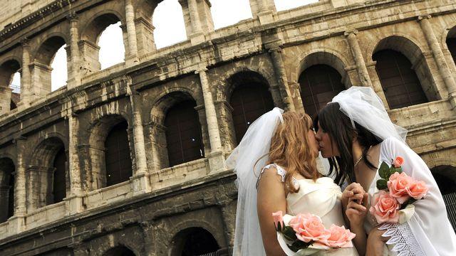 La justice italienne fait progresser les droits des couples homosexuels. [Tiziana Fabi - AFP]