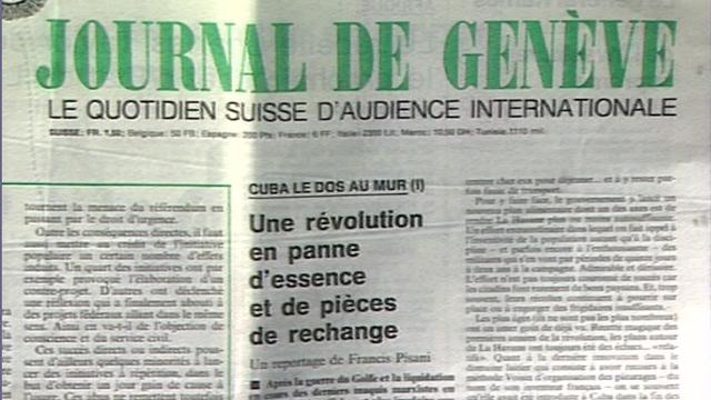 Le Journal de Genève en 1991. [RTS]