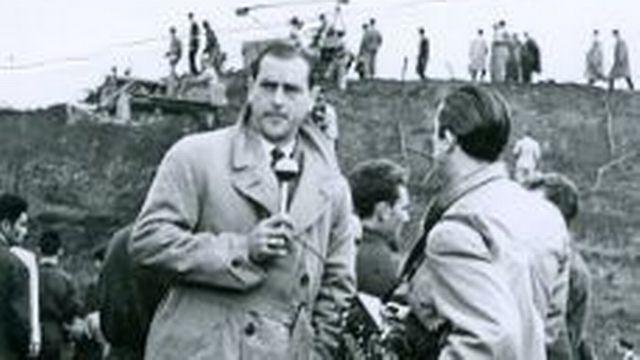Henri Meyer de Stadelhofen au Centre national italien de mécanique agricole, en 1951, à Turin [Radio-Genève]