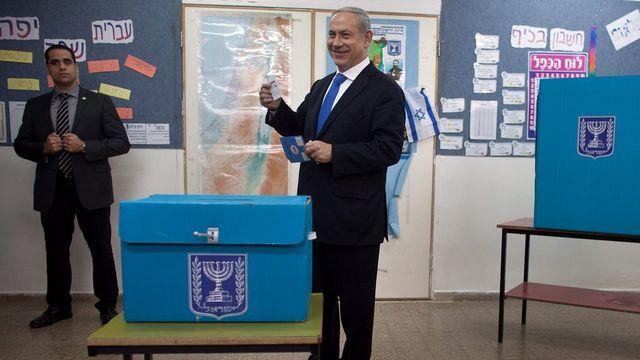 L'actuel Premier ministre Benyamin Netanyahou, au pouvoir depuis mars 2009, sera probablement réélu. [Uriel Sinai / EPA - Keystone]