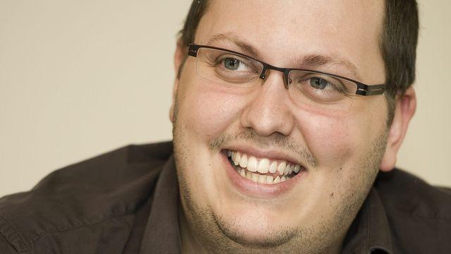 Gaël Bourgeois, nouveau président du Parti socialiste du Valais romand. [Jean-Christophe Bott - Keystone]