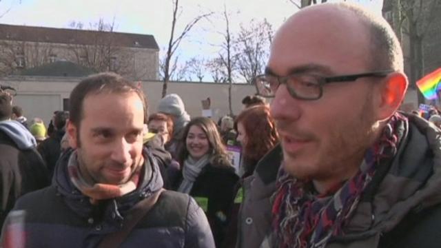 Manifestation en faveur du mariage homosexuel à Paris