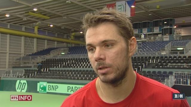 L'équipe suisse de tennis s'entraîne à Genève en vue de la Coupe Davis