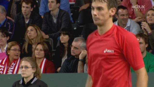 1er tour (1/8es de finale): Suisse – Rép. Tchèque à Genève (1er jour). Henri Laaksonen - Thomas Berdych. La 3e manche se joue au tie-break