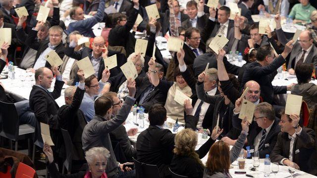 Le PLR dit nettement non à la LAT lors de son assemblée à Zurich. [Walter Bieri - Keystone]