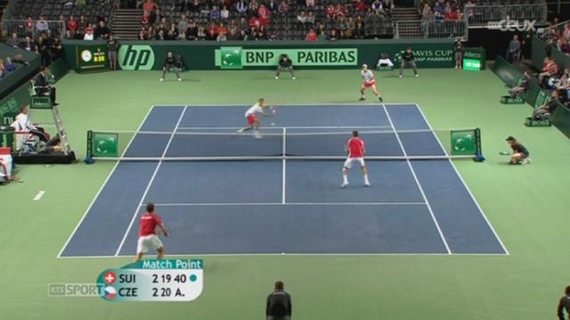 Tennis / Coupe Davis: la Suisse perd le double face à la République tchèque + itw. Stanislas Wawrinka