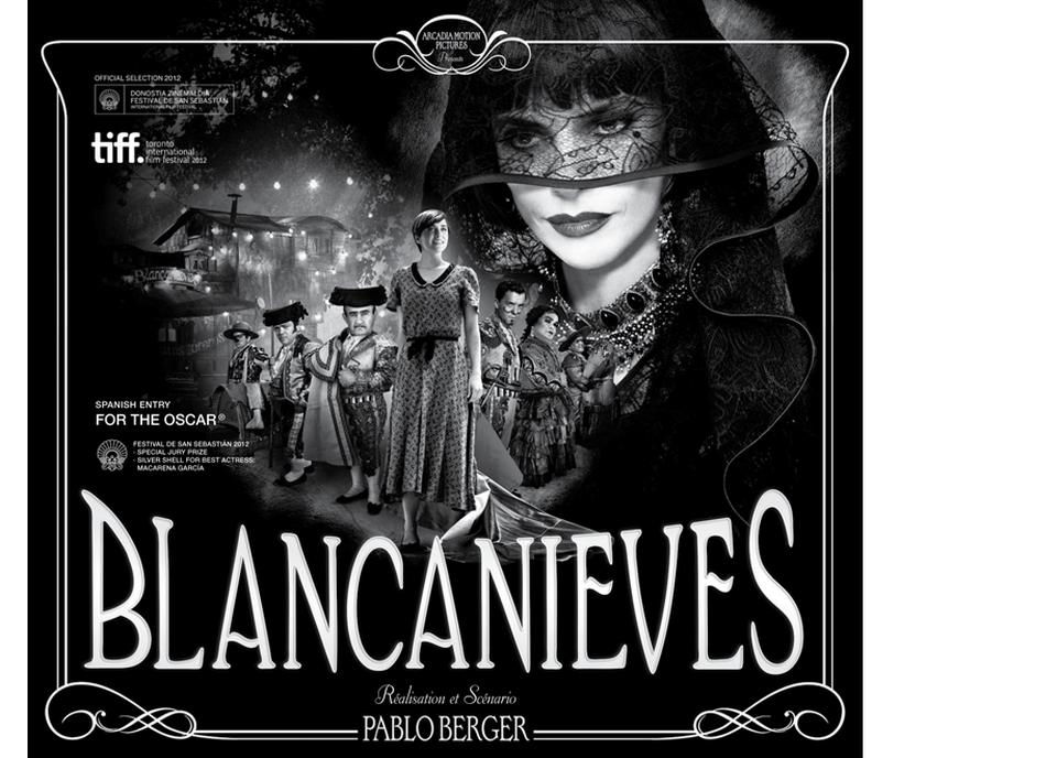 Affiche promotionnelle du film Blancanieves de Pablo Berger, sortie le 30 janvier 2013. [Photo: Yuko Harami Design: Jordi Rins - XENIXFILM]