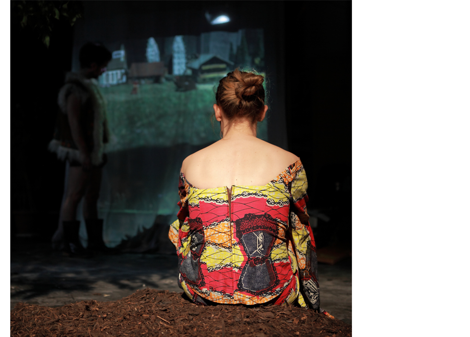"""Scène du spectacle """"Un après-midi au zoo"""" de la Cie Post Tenebras Lux, janvier-février 2013. [Sébastien Monachon]"""