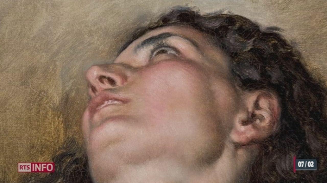 Le tableau de Gustave Courbet, «l'origine du monde», dévoile son visage