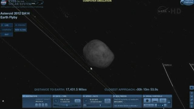Un astéroïde de 45 mètres de diamètre a frôlé la terre vendredi 15 février à 18h24 précisement. Il n'y avait aucun risque pour la planète terre, avait affirmé jeudi la Nasa.
