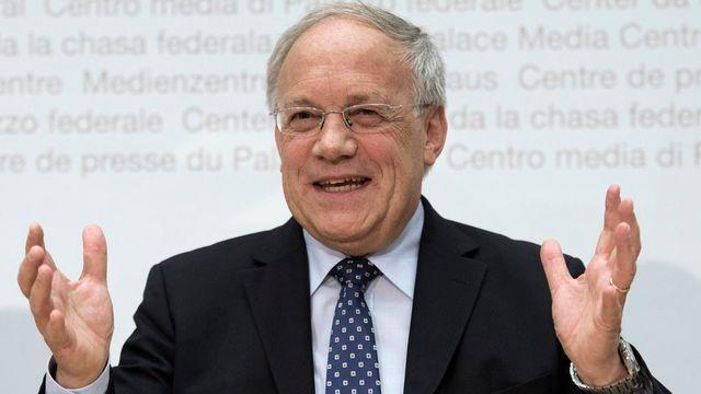 Johann Schneider-Ammann ne serait pas élu, selon le sondage Vimentis. [Lukas Lehmann]
