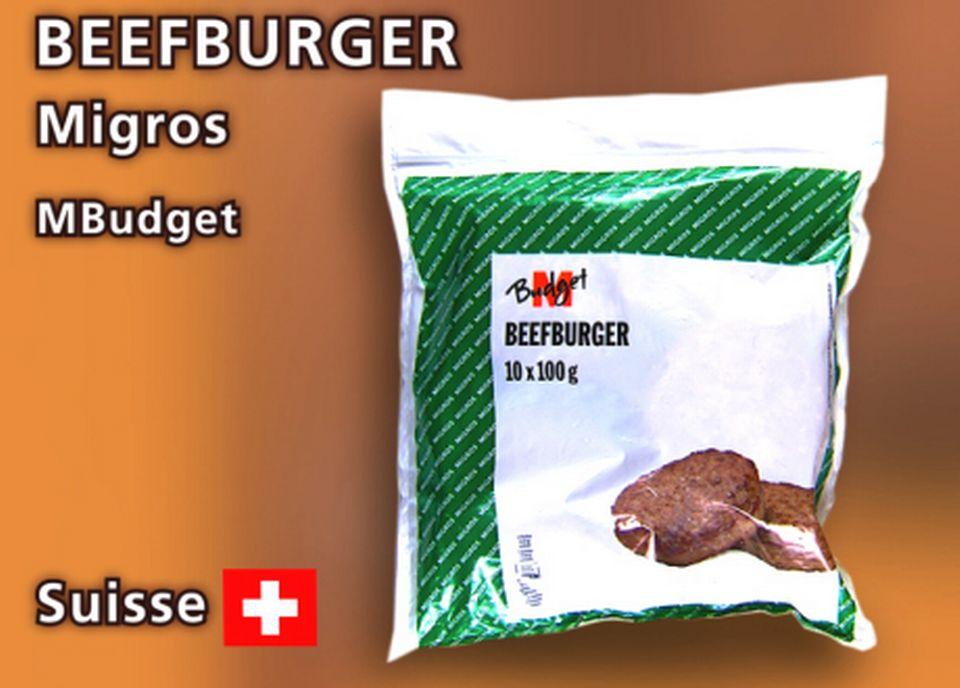 Beefburger MBudget de Migros.