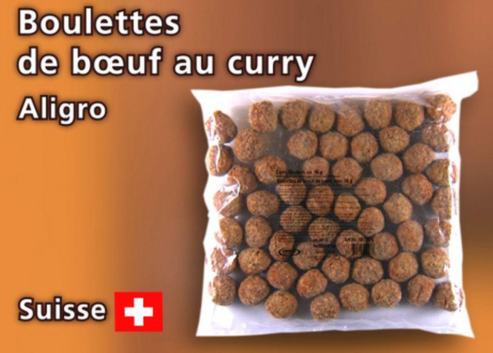 Boulettes de bœuf d'Aligro. [Daniel Bron - RTS]