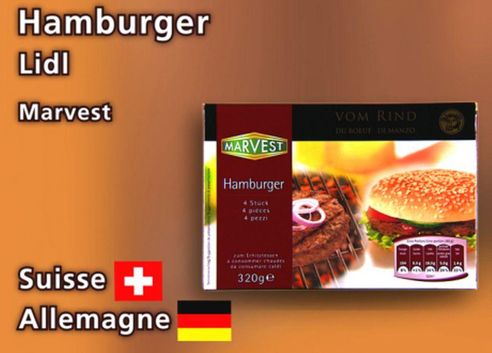 Hamburgers de LiDL. [Daniel Bron - RTS]