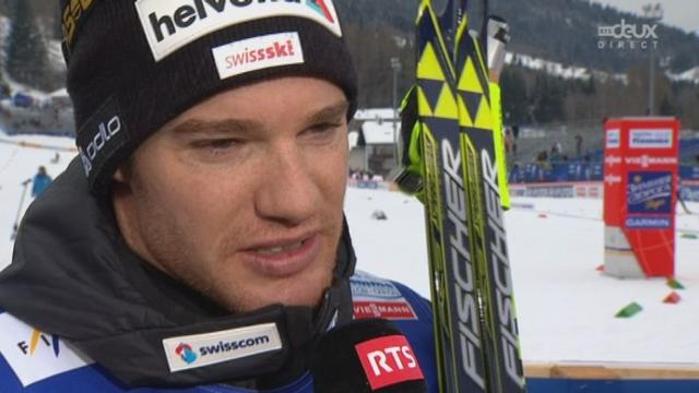 Interview du nouveau champion du monde de skiathlon, Dario Cologna