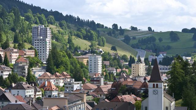 La ville du Locle est inscrite au patrimoine mondial de l'UNESCO depuis 2009. [Gaetan Bally - Keystone]