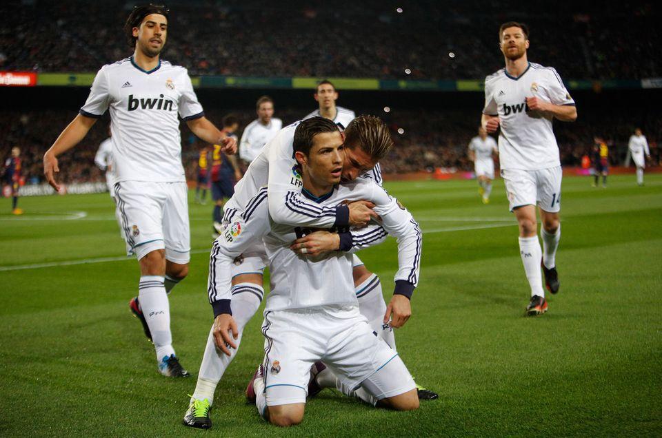 Auteur d'un doublé, Cristiano Ronaldo a remporté son duel à distance avec Lionel Messi [Emilio Morenatti - Keystone]