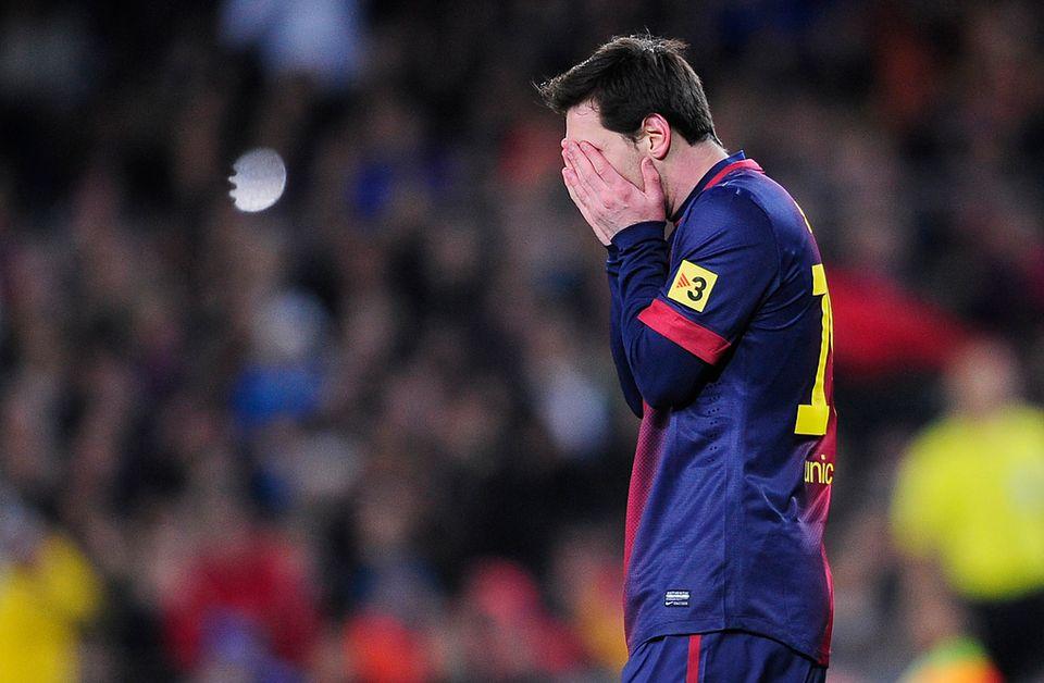 Messi et le Barça ont perdu leur Coupe du Roi gagnée en 2012. [Manu Fernandez - Keystone]