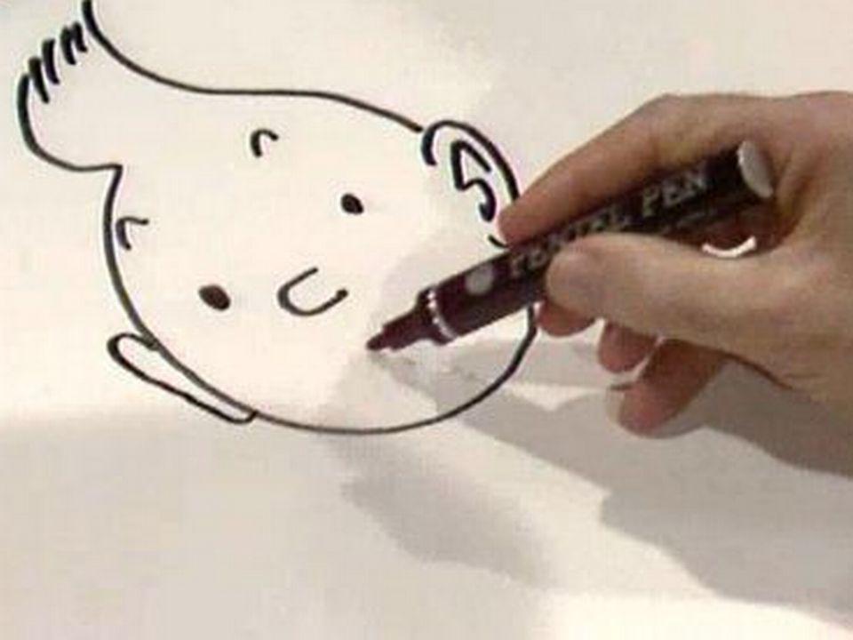 Croquis de Tintin par Hergé. [RTS]