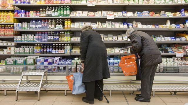 La consommation des ménages représente environ 60% du PIB suisse. [Alessandro Della Bella - Keystone]