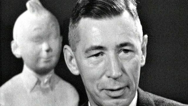Le dessinateur Hergé en 1960. [RTS]