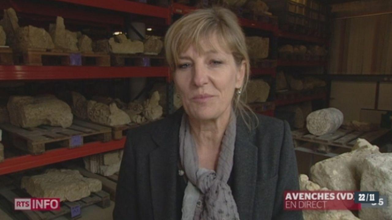 Découverte de deux stèles funéraires historiques à Avenches: entretien avec Marie-France Meylan Krause, directrice du site et musée romain d'Avenches