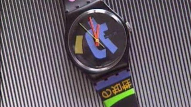 Une montre Swatch. [RTS]