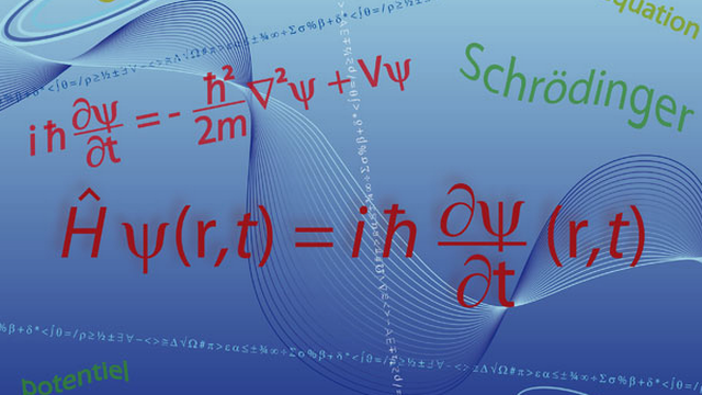 L'équation de Schrödinger, équation fondamentale en physique quantique. [Pro Web Design - Fotolia]