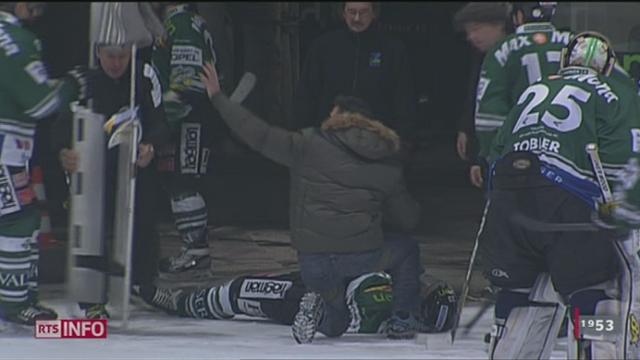 Ronny Keller, défenseur du HC Olten, a été grièvement blessé suite une charge d'un joueur de Langenthal