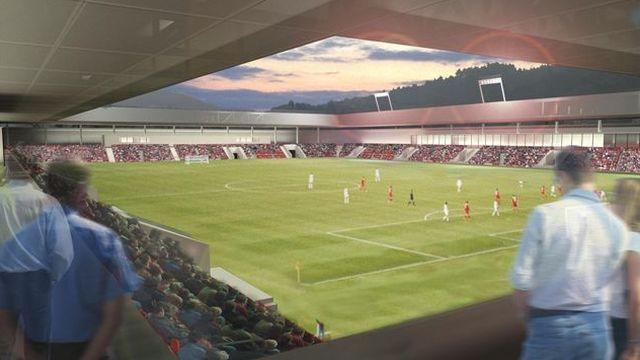 Le projet prévoit la construction d'un stade de foot et d'une patinoire. [HRS]