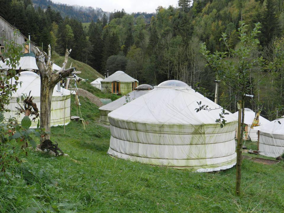 Village de yourtes. [RTS]