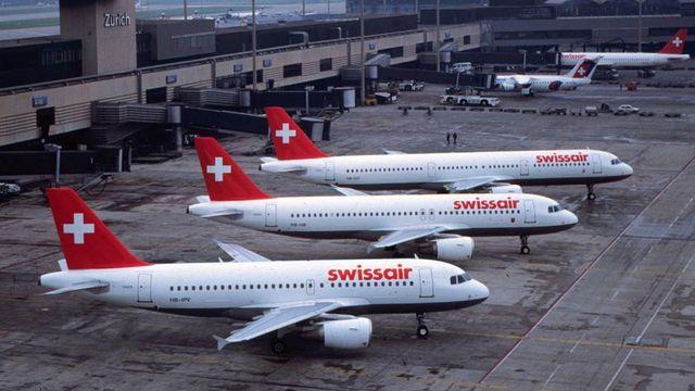 En service depuis 1995, Swissair comptait de nombreux Airbus A-319, A-320 et A-321. Ces modèles sont encore exploités aujourd'hui. [Martin Ruetschi - Keystone]