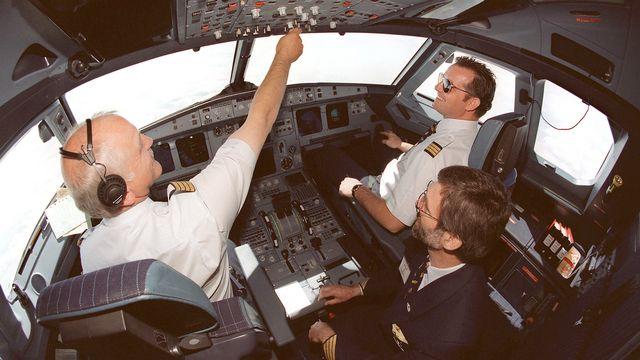 La cabine d'un Airbus A-319, qui pouvait transporter 126 passagers (contre 150 pour l'A-320 et 186 pour l'A-321). [Keystone]