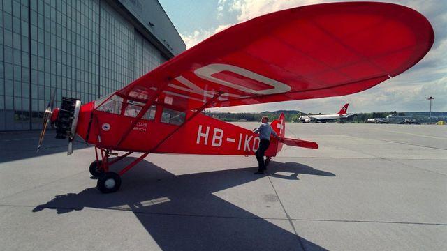 Exploités entre 1931 et 1948 par Swissair, les appareils du type AC-4 Gentleman du fabricant suisse Compte pouvaient transporter deux passagers et parcourir 700 kilomètres. [Martin Ruetschi - Keystone]