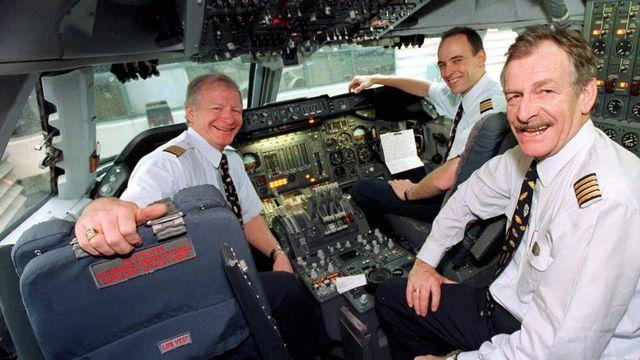 La cabine d'un Jumbo Jet 747, qui pouvait transporter 375 passagers sur un rayon de 11'170 km. [Keystone]