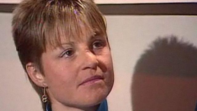 Erika Hess en 1987 dans l'émission Fan de Ski. [RTS]