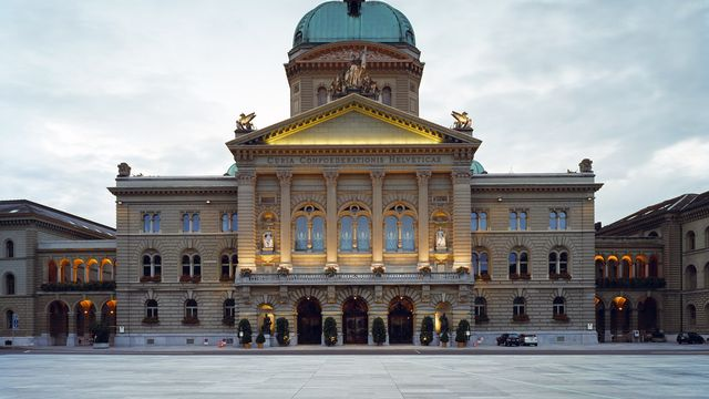 Le Palais fédéral, à Berne. [Gaëtan Bally - Keystone]