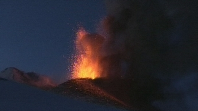 Intense éruption de l'Etna
