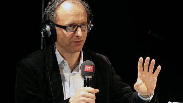 """Bertrand Kiefer à """"L'Agence"""", le 17 mars 2013. [Cécile Möller - RTS]"""