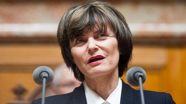 Micheline Calmy-Rey était présidente de la Confédération lors de l'affaire Hildenbrand. [Peter Klaunzer - Keystone]