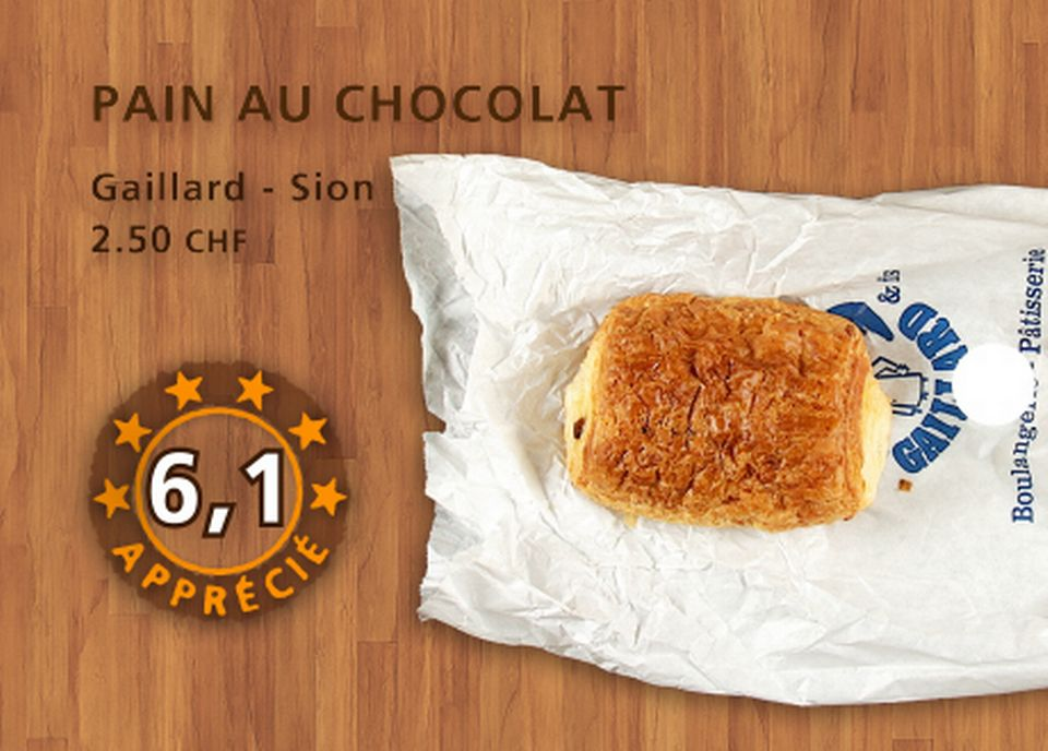 Pain au chocolat, Gaillard. [Daniel Bron - RTS]