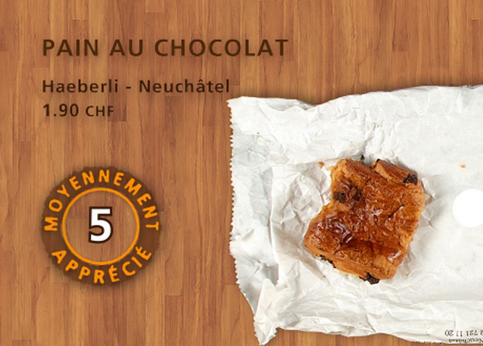 Pain au chocolat, Haeberli. [Daniel Bron - RTS]