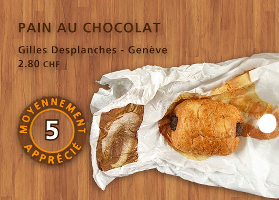 Pain au chocolat, Gilles Desplanches. [Daniel Bron - RTS]