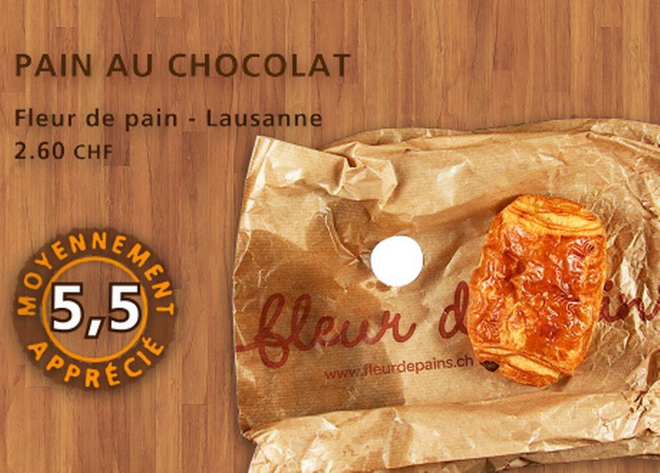 Pain au chocolat, Fleur de pain. [Daniel Bron - RTS]