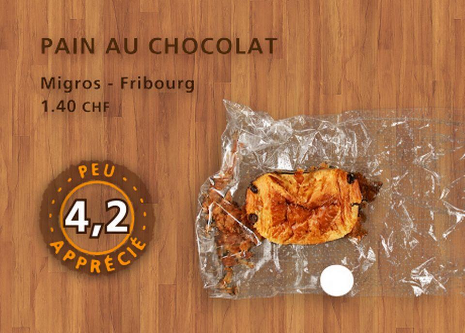 Pain au chocolat, Migros. [Daniel Bron - RTS]