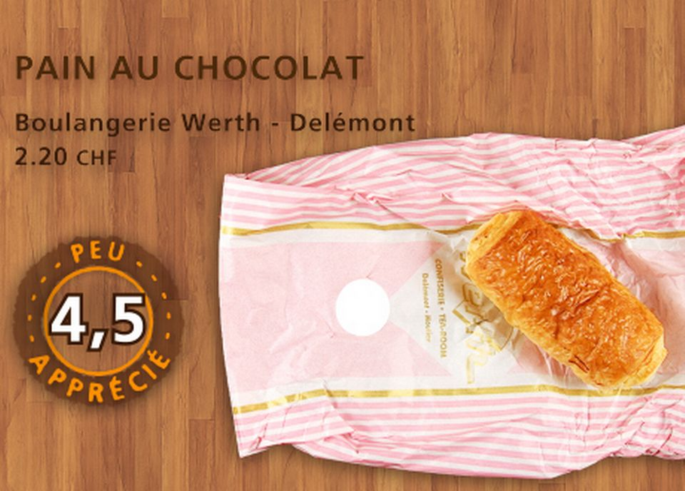 Pain au chocolat, Werth. [Daniel Bron - RTS]