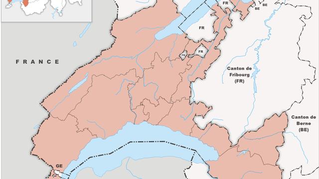 Le territoire du canton de Vaud en 2010. [Wikimedia commons ]