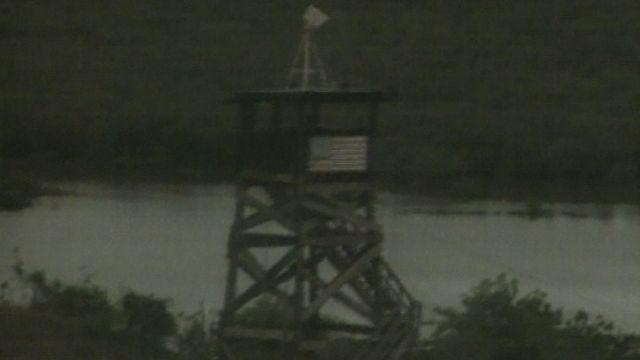 La base de Guantanamo, une enclave américaine à Cuba. [RTS]