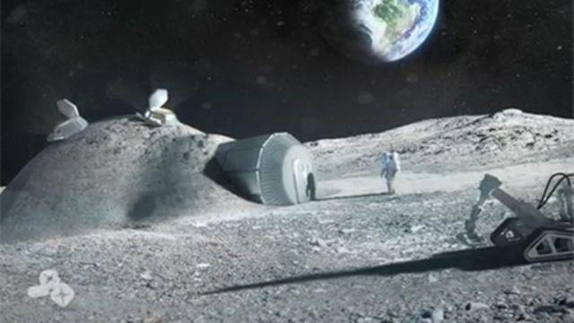 Maquette d'une construction lunaire [Fotolia]